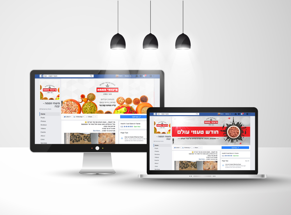 ניהול דף פייסבוק פיצוחי חממה