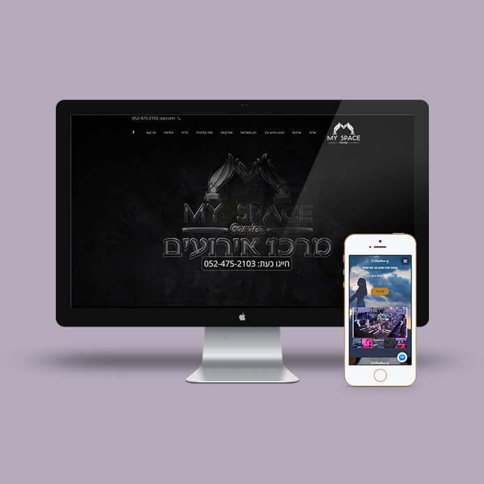 בניית אתר וורדפרס מיי ספייס