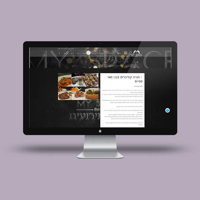 בניית אתרים לעסקים מיי ספייס 3