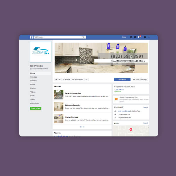 פייסבוק טל פרוייקטים